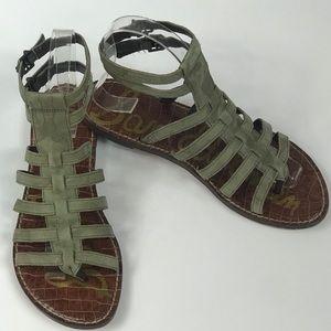 Sam Edelman Gilda Camo Gladiator Sandals Size 6.5